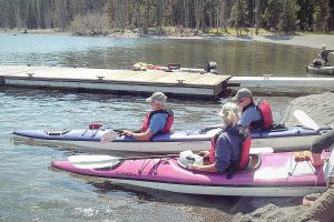 Kayak trip in Yellowstone Lake